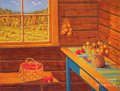 Autumn At The Cottage Poster by Veikko Suikkanen
