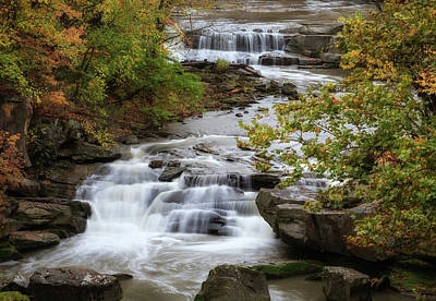 Poster featuring the photograph Autumn At The Falls by Dale Kincaid