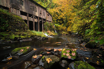 Autumn At The Grist Mill Poster by Brian Bonham
