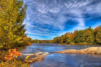 Autumn At The Moose River Road Poster