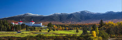Autumn At The Mount Washington Pano Poster by Chris Whiton