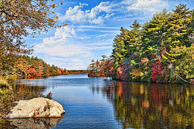 Autumn At The Pond Poster