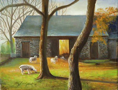 Autumn At The Sheep Barn Poster