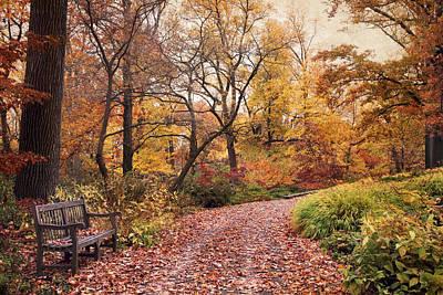 Autumn Azalea Garden Poster