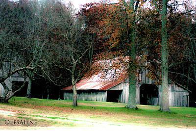 Autumn Barn In Alabama Poster