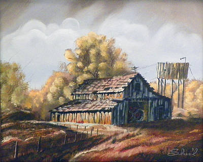 Poster featuring the painting Autumn Barnyard by Sherril Porter