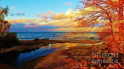 Autumn Beauty Lake Ontario Ny Poster by Judy Via-Wolff