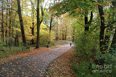 Poster featuring the photograph Autumn Bicycling by Felipe Adan Lerma
