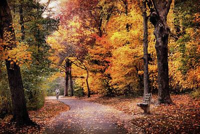 Autumn Biker Poster by Jessica Jenney