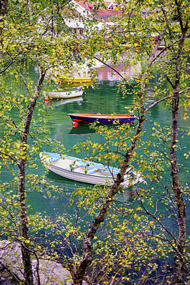 Autumn. Boats Poster