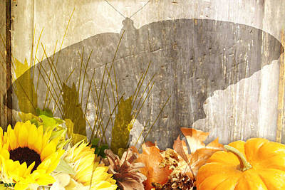 Autumn Butterfly Shadows Poster by Debra     Vatalaro