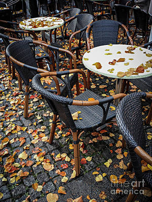 Poster featuring the photograph Autumn Cafe by Elena Elisseeva