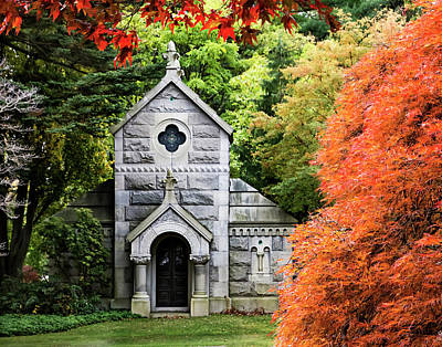 Autumn Chapel Poster by Betty Denise