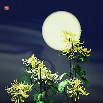 Autumn Chrysanthemums 2 Poster by GuoJun Pan