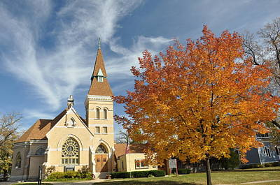 Autumn Church Poster