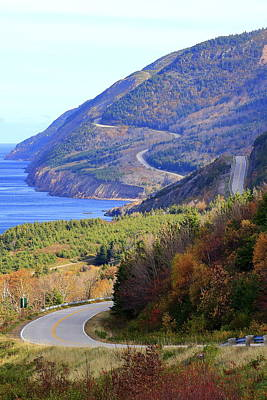 Autumn Color On The Cabot Trail, Cape Breton, Canada Poster