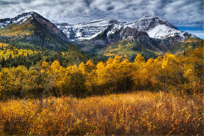 Autumn Colors On Mount Timpanogos Poster