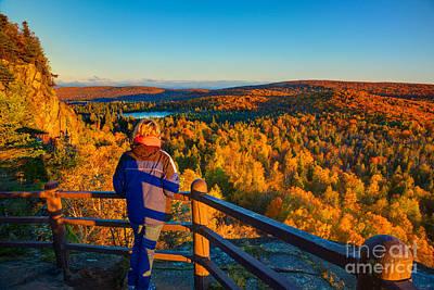 Autumn Colors Orberg Mountain North Shore Minnesota  Poster by Wayne Moran