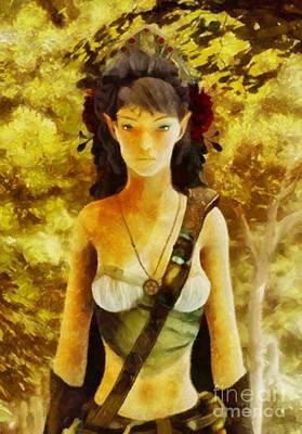 Autumn Elf By Sarah Kirk Poster