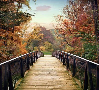 Poster featuring the photograph Autumn Encounter by Jessica Jenney