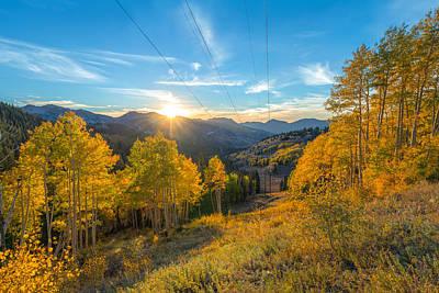 Autumn Evening At Guardsman Pass Utah Poster