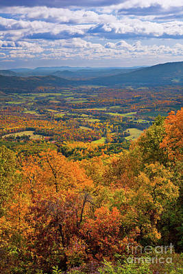 Autumn Fall Colors In The Arnold Valley Poster by Dan Carmichael