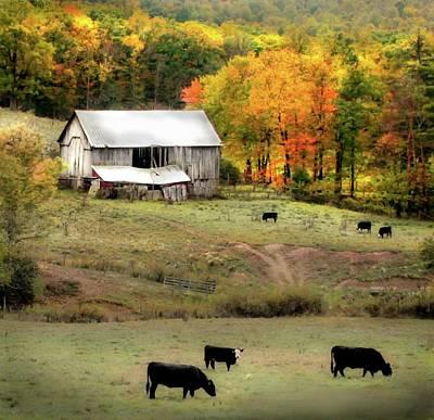 Autumn Farmhouse Poster by Michael Forte