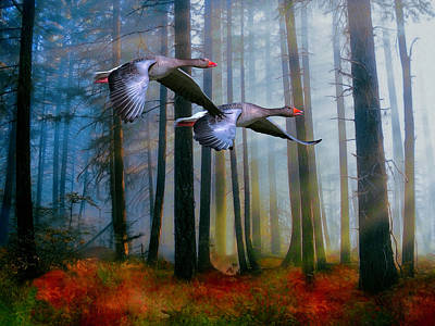 Autumn Flight Poster by Diane Schuster