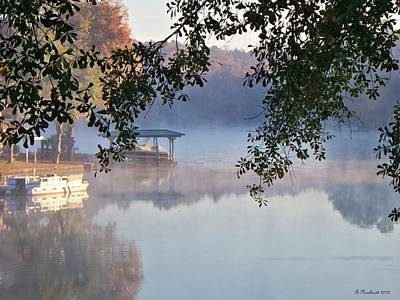 Poster featuring the photograph Autumn Fog by Betty Northcutt