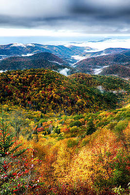 Autumn Foliage On Blue Ridge Parkway Near Maggie Valley North Ca Poster