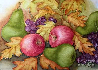 Autumn Fruit Still Life Poster