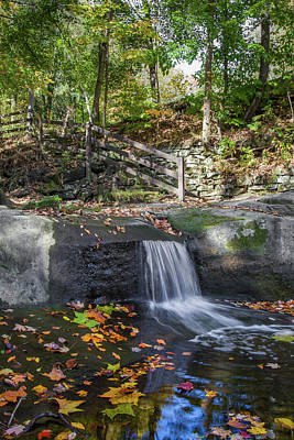 Poster featuring the photograph Autumn Glen Olmsted Falls by Lon Dittrick