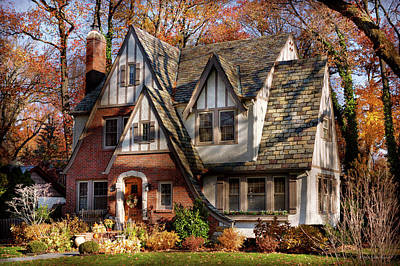 Poster featuring the photograph Autumn - Gnome Home by Mike Savad