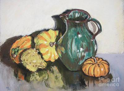 Autumn Gourds Poster