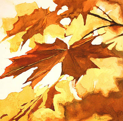 Poster featuring the painting Autumn Greeting by Rachel Hames