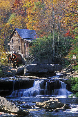 Autumn Grist Mill - Fs000141 Poster by Daniel Dempster