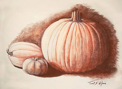 Autumn Harvest Drawing Poster