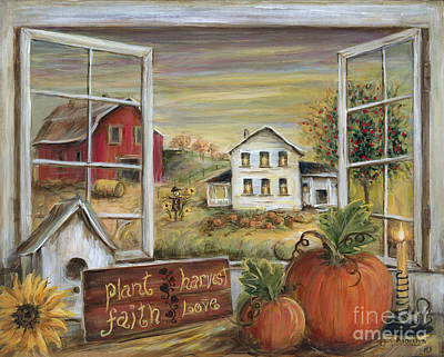Autumn Harvest Poster by Marilyn Dunlap