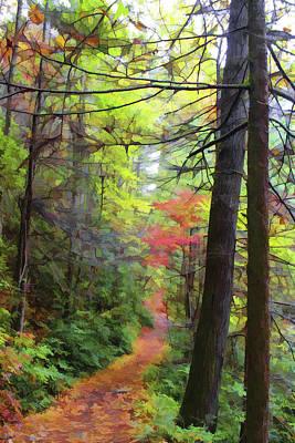 Autumn Hike Poster by Lorraine Baum