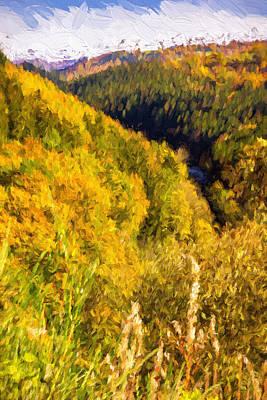 Autumn Hills Painterly Poster