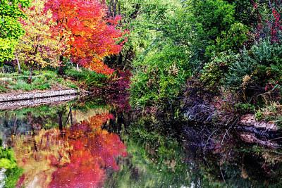 Autumn In Boise Park Poster