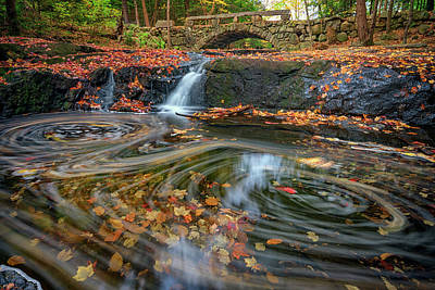Autumn In Hallowell Poster