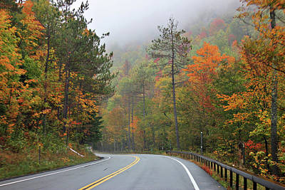 Autumn In Keene Valley Poster
