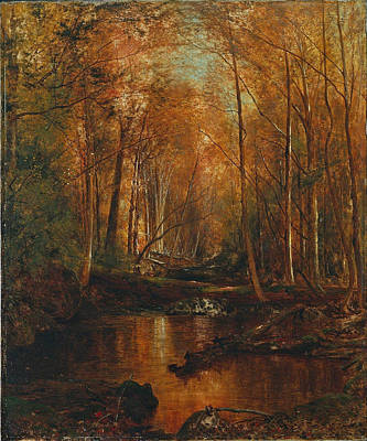 Autumn In The Catskills Poster by Jervis McEntee