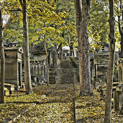 Autumn In The Cemeterie Pere Du La Chaise Poster