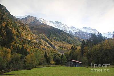 Autumn In The Lauterbrunnen Valley, Switzerland Poster