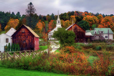 Autumn In Waits River Vermont Poster by Joann Vitali