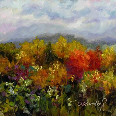 Poster featuring the painting Autumn Jewels by Chris Brandley