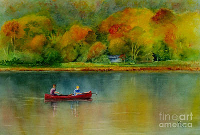 Autumn Poster by Karen Fleschler