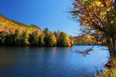 Autumn Lake In Vermont  Poster